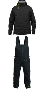 2019 Zhik Kiama Jacket J101 & Trouser TR101 Combi Set Black / Black
