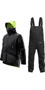 2020 Zhik Mens Apex Offshore Sailing Jacket & Kiama Trouser Combi Set - Anthracite Black