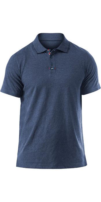 2020 Zhik Mens Lightweight Polo Shirt Blue Marl POL0005