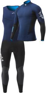Zhik Mens Microfleece V 1mm Neoprene Top & Long John Wetsuit Combi Set