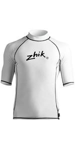 2021 Zhik Mens Short Sleeve Spandex Rash Top TOP65 - Crisp White