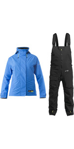 2020 Zhik Womens Kiama Sailing Jacket & Trouser Combi Set - Cyan / Black