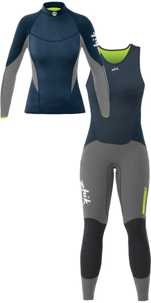 2019 Zhik Womens Superwarm V Neoprene Top & Long John Combi Set Navy
