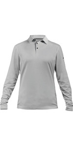 2020 Zhik Womens ZhikDry LT Long Sleeve Polo Top Ash 0850W