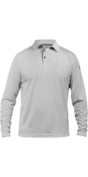 2018 Zhik ZhikDry LT Long Sleeve Polo Top Ash 0850