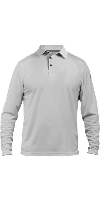 2021 Zhik ZhikDry LT Long Sleeve Polo Top Ash 0850