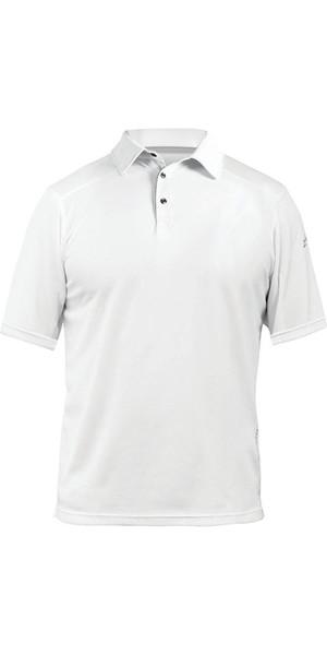 2018 Zhik ZhikDry LT Short Sleeve Polo Top White 0870