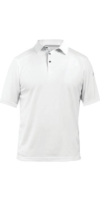 2021 Zhik ZhikDry LT Short Sleeve Polo Top White 0870