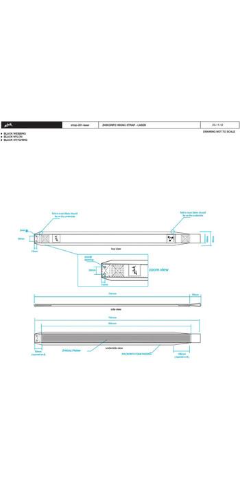 2021 Zhik ZhikGrip II Hiking Straps - Fits Laser STRAP201 - Black