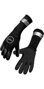 2021 Zone3 Neoprene Swimming Gloves NA18UNSG1 - Black / Reflective Silver