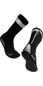 2021 Zone3 Neoprene Swimming Socks NA18UNSS1 - Black / Reflective Silver
