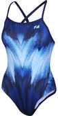 2021 Zone3 Cosmic 2.0 Colour Blast Strap Back Swimming Costume SW18WCOS - Colour Blast / Fluro Pink