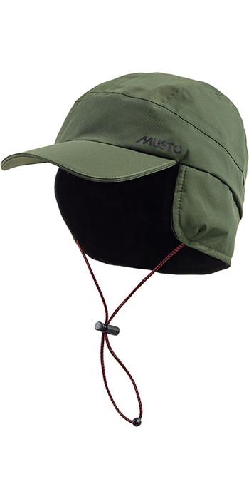 Musto Waterproof Fleece Lined Cap Dark Moss AE0080