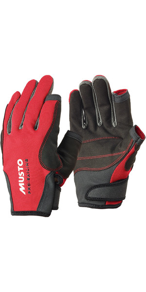 Musto Essential Sailing Long Finger Gloves RED AS0803