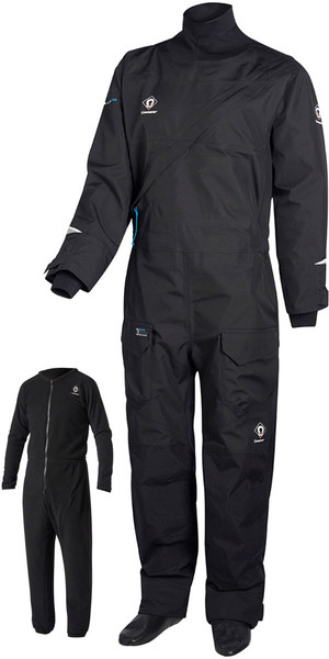 2019 Crewsaver Junior Atacama Pro Drysuit INCLUDING UNDERSUIT BLACK 6556J