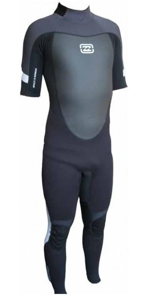 Billabong Foil 3mm Short Sleeved Steamer Wetsuit in Black / Graphite /White B43M10