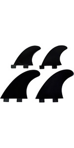 2020 Northcore FCS Compatible Nylon Quad Fin Set BLACK BAS-Q1