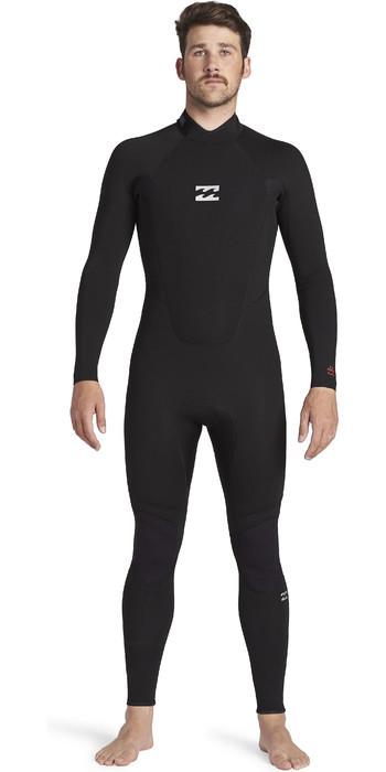 2021 Billabong Mens Intruder 5/4mm Back Zip GBS Wetsuit 045M18 - Black