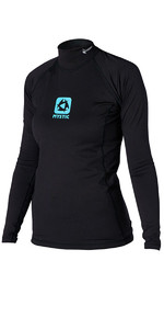 2021 Mystic Womens Long Sleeve Bipoly Thermo Vest BLACK 140085