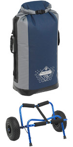 Palm Trek Offer: Big Caddy Heavy Duty Kayak Trolley Red + River Trek 75L Dry Bag