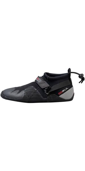 2018 Gul Strapped Slipper 3mm Titanium Shoe BLACK / GREY BO1265-A8
