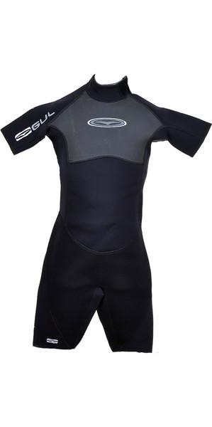 Gul Contour 3/2mm Kids & Junior Shorty Wetsuit in Black