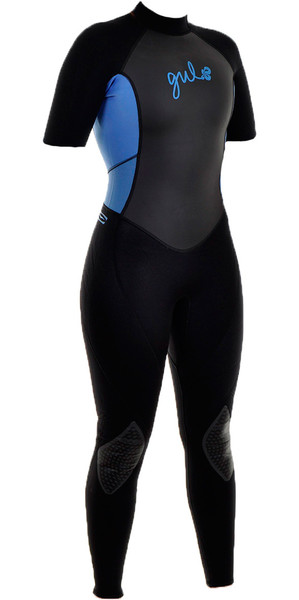 Gul Response Womens 3mm Convertible Arm Wetsuit RE2301 in BLACK / BLUE