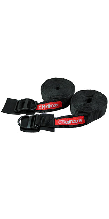 2020 Northcore D-Ring Roof Rack Straps / Tie Downs 5M NOCO22B