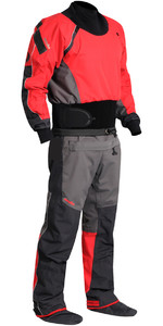 2021 Nookie Charger Canoe / Kayak Drysuit Charcoal Grey /  Red DR10