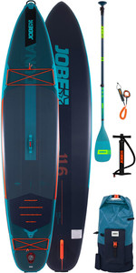 2021 Jobe Duna 11'6 Inflatabale SUP Package - Board, Paddle, Bag, Pump & Leash 486421004