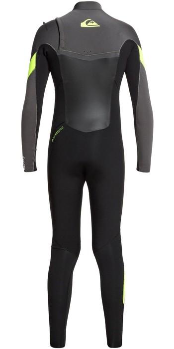 2021 Quiksilver Junior Boys Syncro 4/3mm Chest Zip Wetsuit EQBW103053 - Black / Jet Black