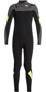 2020 Quiksilver Junior Boys Syncro 3/2mm Chest Zip Wetsuit EQBW103051 - Black / Jet Black