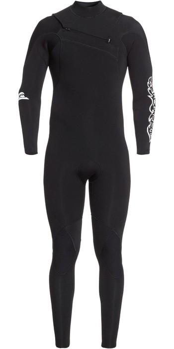 2020 Quiksilver Mens Highline Ltd Monochrome 4/3mm Chest Zip Hydrolock Wetsuit EQYW103074 - Black