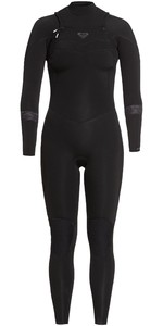 2021 Roxy Womens Syncro 5/4/3mm Chest Zip Wetsuit ERJW103057 - Black / Jet Black