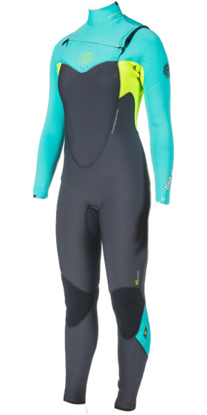 Rip Curl Womens 5/3mm Flashbomb CHEST ZIP Wetsuit in Turquoise WSM4GG