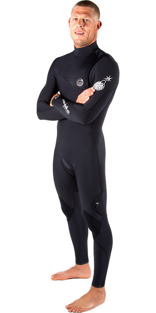 Rip Curl Flashbomb 4/3mm Zip Free Wetsuit Black Wsm5sf Picture