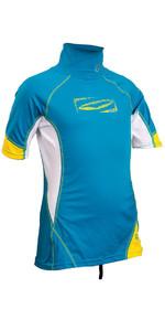 2020 GUL Junior Short Sleeve Rash Vest Crip / White RG0341-B4