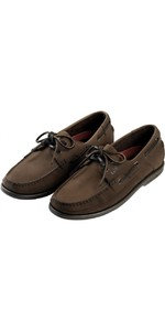 Gill Baltimore 2 Eye Deck Shoe in Dark Brown / Nubuck 920