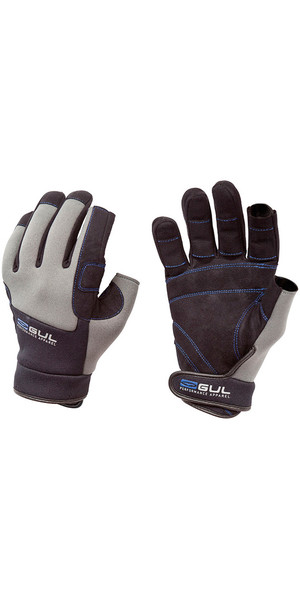 2018 Gul Winter 3 Finger Glove in Black / Charcoal  GL1240