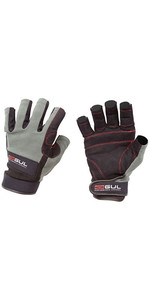 2018 Gul Summer Junior Short Finger Sailing Glove Black / Charcoal GL1243