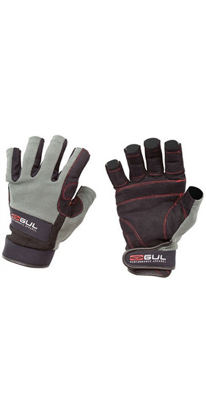 2018 Gul Summer Junior Short Finger Sailing Glove Black / Charcoal GL1243
