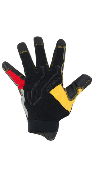 2018 Gul EVO2 Pro Long Finger Summer Sailing Glove Black / Yellow GL1292