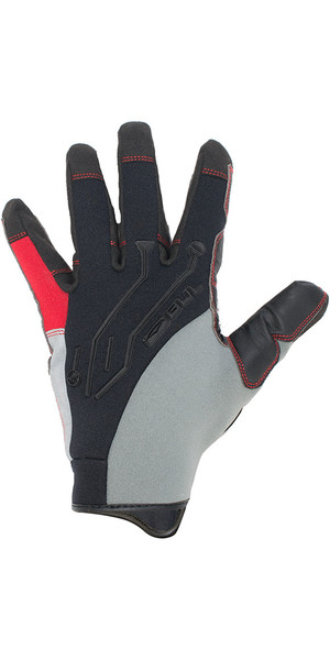 2018 Gul EVO2 Pro Long Finger Winter Sailing Glove Black / Red GL1293