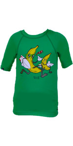 Billabong Go Bananas Short Sleeved Rash Vest in Kelly Green P4KY10