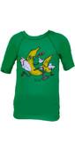 Billabong Go Bananas Short Sleeved Rash Vest in Kelly Green P4KY10