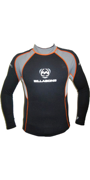 65b56c9f88 Billabong Equator 0.5mm Neoprene Top in BLACK   GREY   ORANGE Billabong