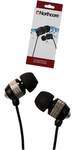 2020 Northcore 'Soundwave' Waterproof Earphones BLACK NOCO181B