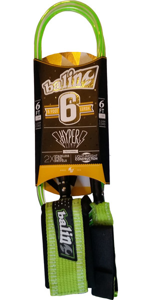 Balin Hyper Comp 5.5mm Double Swivel Leash Green / Clear 6ft