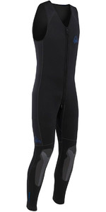 2021 Palm Inferno 5mm Double Lined Neoprene Front Zip Long John Wetsuit BLACK 10479P