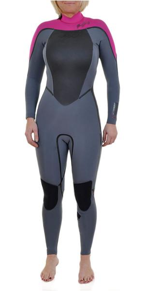 Billabong SG5 3/2mm Back Zip Wetsuit Ash / Hotpink J43G01